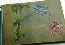 Vintage Art Nouveau antique paper unused post card album Art Deco cover !