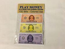120 Bills - Play Pretend Money - Colored set