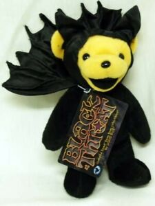 "Grateful Dead BEAN Bear BLACK THROAT Plush 18cm/7"" Halloween Japan"