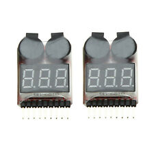 2Pcs 1-8S Indicator RC Li-ion Lipo Battery Tester Low Voltage Buzzer Alarm HY
