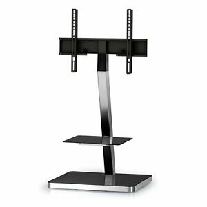 Sonorous PL-2710 Modern TV Floor Stand Mount / Bracket with Tempered Glass Shelf