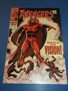 Avengers #57 Silver age 1st Vision Huge Key Awesome Cover Fine/Fine+ Beauty Wow