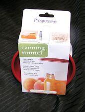 Funnel Canning Fits Wide & Reg. Jars  Cooking  PROGRESSIVE, Headspace Measures