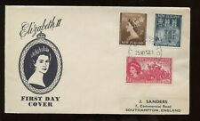 New Zealand Qe Coronation First Day Cover 1953 Wellington Cancel