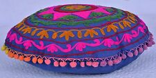 Designer Handmade Suzani Embroidered Cushion Cover Boho Indian Pillow Case Decor