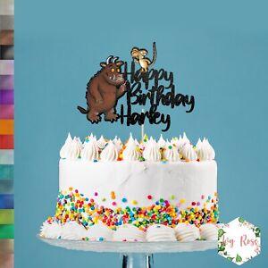 Custom Personalised Gruffalo Themed Glitter Birthday Cake Topper