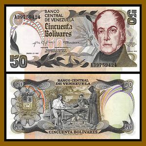 Venezuela 50 Bolivares, 1981 P-58 bicentennial Andres Bello Unc