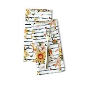 Golden Sunflowers Sunflower Cotton Dinner Napkins by Roostery Set of 2