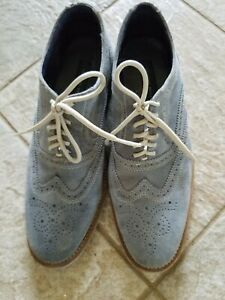 GIORGIO BRUTINI suede leather wing tip SHOES - Size 9 1/2