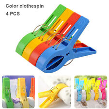 4pcs Clips Windproof Pegs Large Clamp For Clothes Beach Towel Home Drying Racks