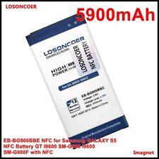 LOSONCOER 5900mAh EB-BG900BBE NFC for Samsung GALAXY S5 NFC Battery GT I9600