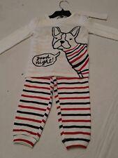 Joe Fresh Boys 2 piece pajamas goodnight red striped dog 12-18, 18-24 month new