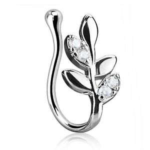 NON PIERCING NOSE RING CLIP ON BRASS JEWELRY (ASSORTED STYLES)