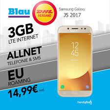 Samsung Galaxy J5 2017 im Blau  Handyvertrag mit 3 GB LTE  nur 14,99€ monat