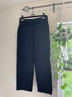 "SANDRO PARIS ""Gladie Trousers"" High Waist Navy Blue Size EU38/UK10 RRP £175!!"