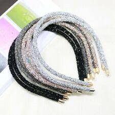 Fashion Crystal Soft Headband Women Rhinestone Bead Hair Accessories Headwear.