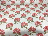 SAMUEL SIMPSON SUPER LUXURIOUS RED JACQUARD UPHOLSTERY FABRIC 3 METRES