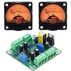 HiFi VU Level  Meter Driver Board + 2PC VU DB Meter For Audio Preamp / Amplifier