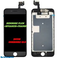 DISPLAY+VETRO TOUCH SCREEN+FRAME PER APPLE IPHONE 6S RETINA 3D A1633 A1688 NERO