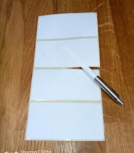 120 x Plain White Stickers. Self Adhesive address labels. 100x50mm. Sticky.