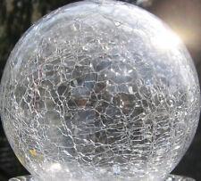 20 cm Große Glas Kugel Garten Craque Lightball Klar Kugelleuchte Glas ohne LED