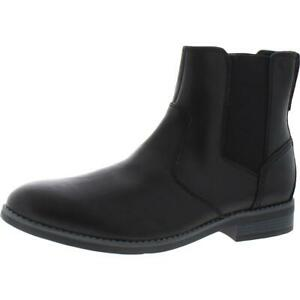 Rockport Mens Colden Leather Ankle Slip On Chelsea Boots Shoes BHFO 4545