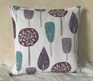 """18"""" Scandi Tree fabricCushion Cover- cotton  Double Sided Top Stitch 45cm"""