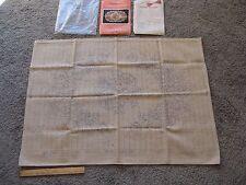 Vintage Sultana Primitive Rug Hooking Canvas Pattern Garland of Roses 24 x 36