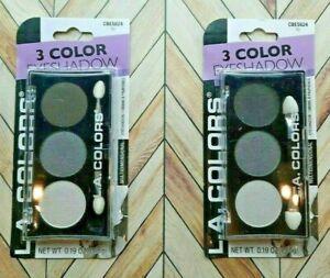LA COLORS DARK LILY Eyeshadow Palettes 2pk Smooth & Silky Regular FREE SHIPPING