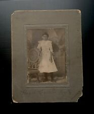 Antique African American Pretty Young Girl Cabinet Card Photo Black Americana