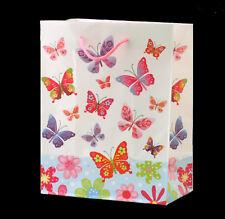 Sac cadeau - papillons 23cm x 18cm x 10cm - papier 158gsm - neuf - gift bag