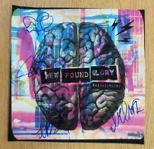 NEW FOUND GLORY RADIOSURGERY SIGNED X5 COA AUTOGRAPH POSTER