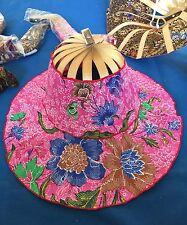 Group of 10 Bali Batik Fan Hats