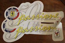 2 Ferrari Club of America 50 Anni di Passione Logo Decal Vinyl Sticker Set