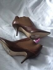 Brown Shoe boots Leather Size 8 BNWT