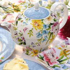 Katie Alice 6 Cup English Garden Teapot Vintage Floral Porcelain Shabby Chic