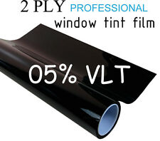 "Professional Window Tint Film 2 PLY 24""x10ft Roll 5% VLT Black Tinting"