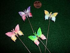 Vintage Multi-Colored Butterfly Stickpins Hand Painted made in Japan lot of 4