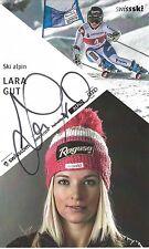 AUTOGRAFO Lara bene ski alpine Svizzera Bronzo OLYMPIA Sochi attrice Gro *