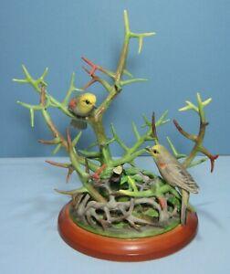 "Boehm Porcelain Limited Edition Bird Sculpture ""VERDINS"" 400-02"
