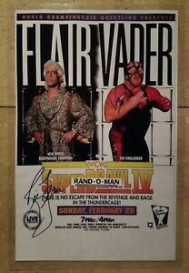 WCW Superbrawl 4 Poster Signed By Ric Flair & Vader