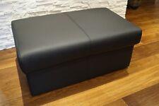 Glatt Echtleder Hocker aufklappbar mit Stauraum SitzHocker Sitzwürfel 90x55