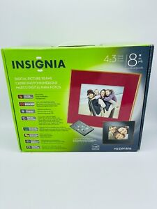 "INSIGNIA DIGITAL PICTURE FRAME 8"" NS-DPF8PR MUSIC MOVIES 1GB"