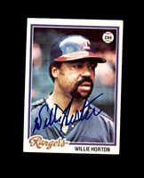 Willie Horton Hand Signed 1978 Topps Texas Rangers Autograph