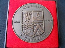 Ancienne médaille millenaire de Saint Mandé 1976 , Drago Paris