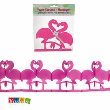 Ghirlanda di Carta Fenicottero Rosa Lunghezza 2 Mt - Festone Pink Flamingo