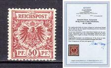 Deutsches Reich DR Mi.50Db 50bD Farbe Formatabweichung Adler geprüft Attest BPP