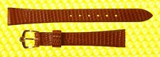 13mm Vintage OMEGA Real-Lizard Leather Watch Strap Band BROWN <NWoT>