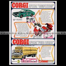 CORGI TOYS 1970 FORD CAPRI 3000 GT 303 MIURA 342 - Pub / Publicité / Ad #A602