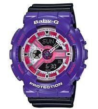 Casio Baby-G * BA110NC-6A Anadigi Gloss Violet & Black COD PayPal Ivanandsophia